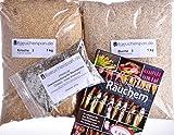 Räucherspäne Räuchermehl, Apfel u. Buche Typ 3, Fertig-Mischung Pökellake u Buch, Komplettpaket für Anfänger u Fortgeschrittene