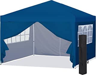 Best Choice Products 10x10ft Portable Pop Up Canopy Tent w/Detachable Window Walls, Zip-Up Doorway, Carrying Bag, Blue