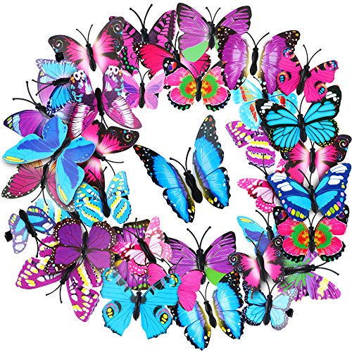 36 Pieces Butterfly Hair Clips Colorful Butterfly Barrettes 3D Valentine's Day Butterfly Hair Clips for Women Party Favors (Style 3)