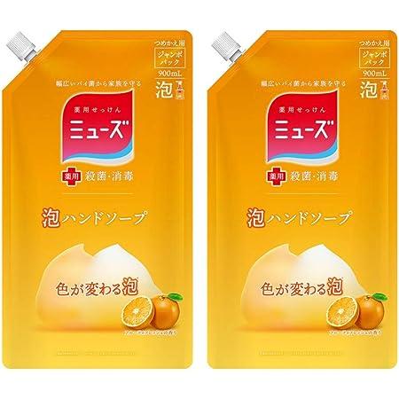 泡ミューズ ジャンボ フルーティフレッシュの香り 詰替え用 泡 900ml x 2個