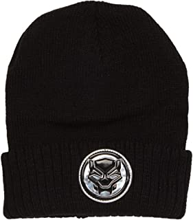 Marvel Comics Black Panther Reflective Logo Cuffed Adult Beanie