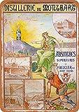 Montbart Absinthe Metall Blechschild Retro Metall gemalt