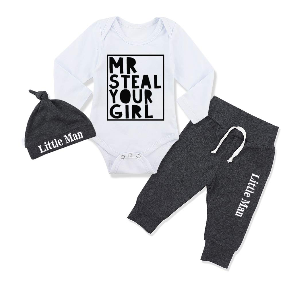 Newborn Baby Boy Clothes Outfit Hipster Bowtie Strap Short Sleeve Bodysuit Moustache Pants Hat 3Pcs Outfits Set