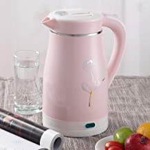 Household Kettle Electric Kettle Automatic Power Off 304 Stainless Steel Kettle jsmhh (Color : Pink)