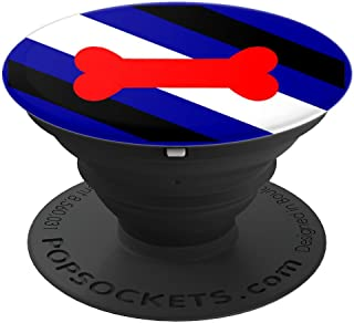 Human Pup Play Gay Leather BDSM Fetish Pride Flag Gear Gifts - PopSockets Grip and Stand for Phones and Tablets