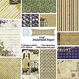 24 Blatt Scrapbooking Papier Designpapier Bastelpapier Dekorpapier für DIY Handwerk Foto Hintergrund Deko 6x6 Zoll