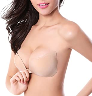 d03139e80a ONine Strapless Self Adhesive Bra Invisible Backless Push Up Sticky Bras  for Women