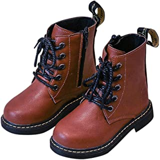 Hopscotch Boys PU Lace Up Ankle Length Boots in Brown Color