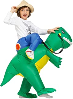Inflatable Dinosaur Costume Halloween Party Costumes Inflatable T-Rex Costumes Blow up Costumes Adult/Kids