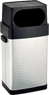 Seville Classics 17 Gallon/65 Liter Large Lidded Open Front UltraHD Fingerprint Resistant Stainless Steel Trash Can-17 gal