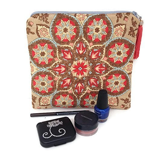 Cosmetic Bag with Tassel