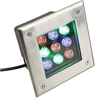Recessed Garden Lighting IP67 LED Waterproof Underground Light Floor Light Square Outdoor Lamp LED Spot Light AC110 220V A...