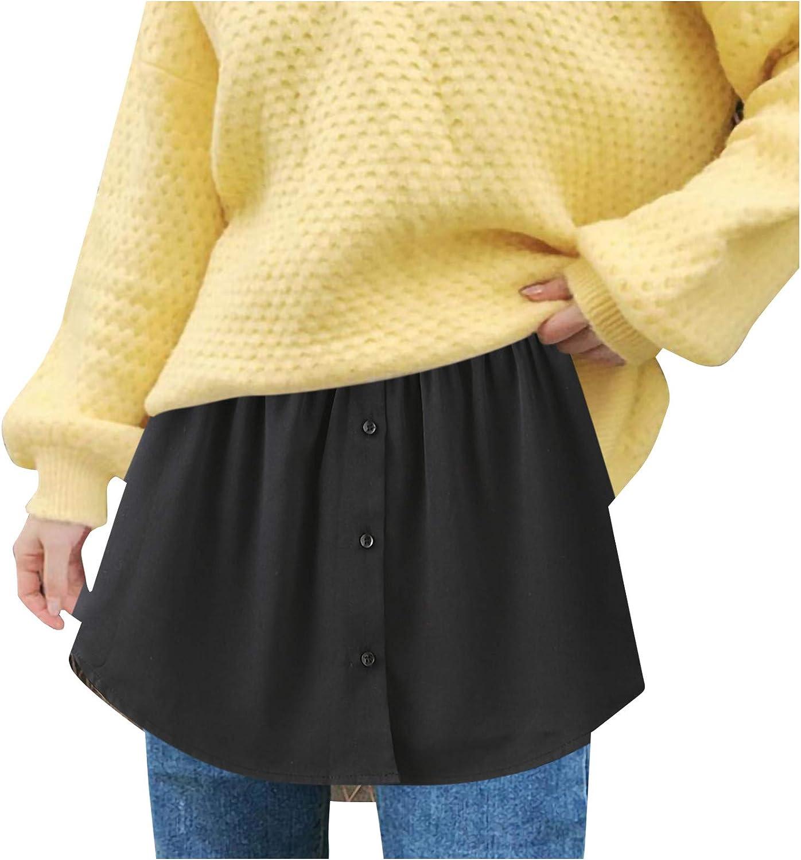 Bronze mini skirts size 29 Be In Great Demand Knurala Adjustable Layering Fake Top Lower Sweep Set Skirt Half Length Splitting A Version Shirt Extender Mini Skirt For Sweater Sweatshirt Jacket Coat Black 3xl For Sale Online Laslall Edu Ci