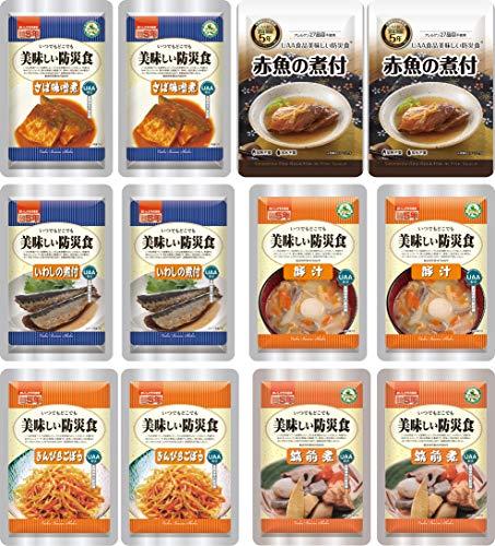 美味しい防災食 おかず 魚メイン 6種類12食 セット そのまま食べられる 非常食