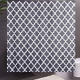 Sfoothome Duschvorhang aus Polyester, geometrisches Muster, schimmelfest & wasserdicht, für Badezimmer