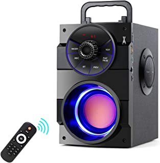 $28 » TAMPROAD Portable Bluetooth Speakers with Subwoofer Rich Bass Wireless Outdoor/Indoor Party Speakers MP3 Player Powerful S...