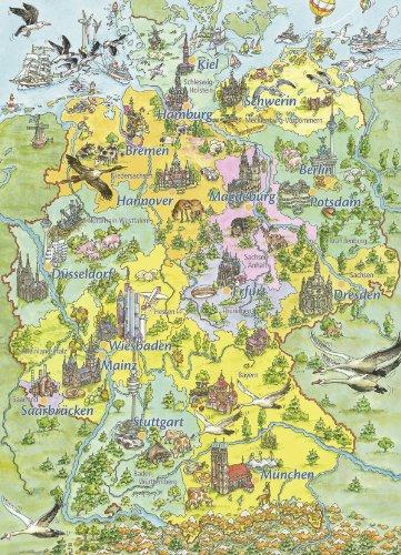 Ravensburger 07541 - Mein erstes Schulpuzzle: Buntes Deutschland - 80 Teile Puzzle