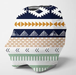 Nursing Cover Multi Use Breastfeeding Scarf - Baby Car Seat Covers, Infant Stroller Cover, Carseat Canopy for Boys (Aztec)