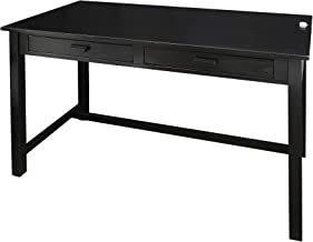 Casual Home 615-92 Jefferson Work Desk Side with Concealed Drawer, Concealment Furniture, Black