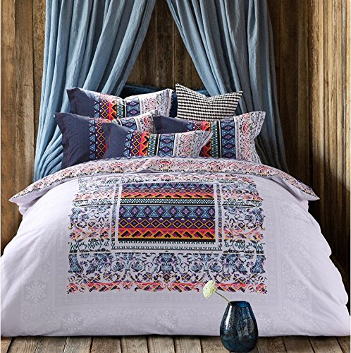 LELVA Bohemia National Style Bedding Boho Duvet Cover Set Boho Bedding Nordic-Style Bedding Full Queen Size (1, Full)