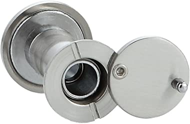 Forliggio Peephole Front Door Viewer with Privacy Cover, One-Way 220 Degrees (Satin Nickle)