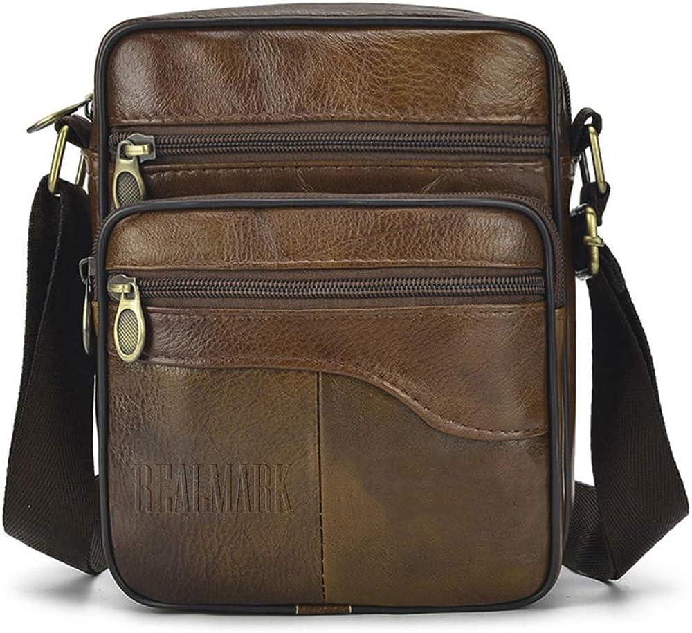 Realmark, borsello per uomo a tracolla, in vera  pelle Realmark040