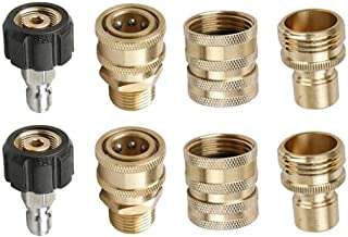 Maydusa Pressure Washer Accessories Adapter, M22 to 14mm Quick Connect Hose Coupler