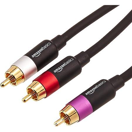 Amazon Basics Cinch Audiokabel 1 X Cinch Stecker Auf 2 Elektronik