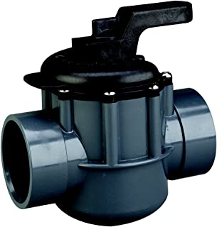 Pentair 263029 Grey/Black Diverter Valve 2-Way 2-Inch (2-1/2-Inch Slip Outside), PVC, Grey/Black