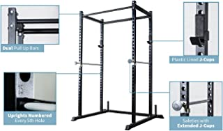 REP FITNESS Short Power Rack – PR-1050 – 72 inches with Optional Dip Attachment, Flat Bench, Adjustable Bench