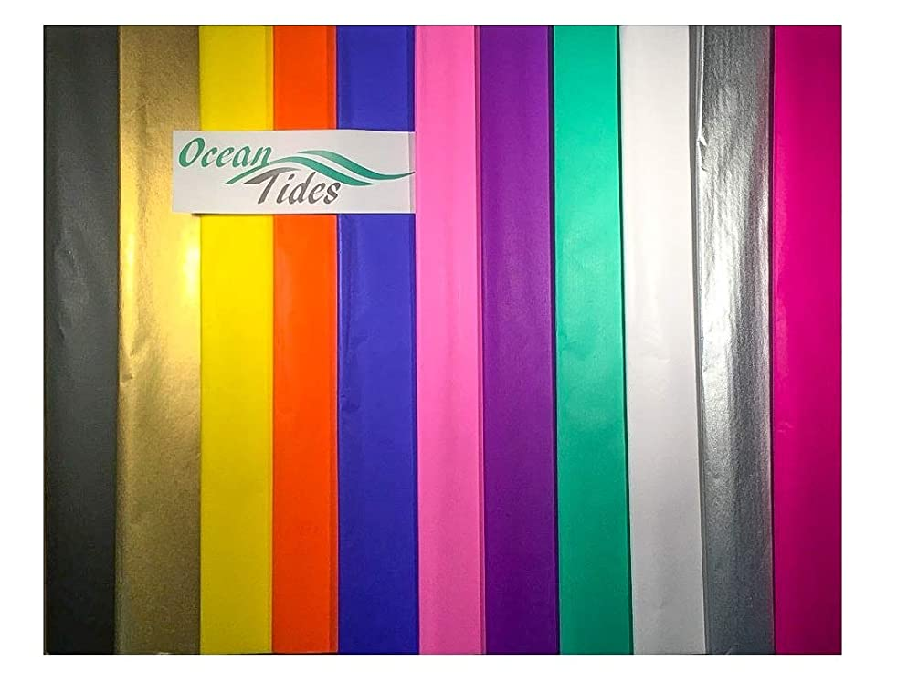 Tissue Paper Gift Wrap Bulk ALL COLORS Wrapping Paper Art Crafts 100 300 or 500 Sheets 15 x 20 inches Rainbow Assorted Black Blue Gold Green Fuchsia Orange Pink Purple Red Silver Teal White Yellow