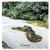 Draeger Zen - Calendario de pared, grande, 2021, diseño mensual, 7 idiomas, con certificación FSC Mixto, tinta vegetal, formato grande (29 x 29 cm)