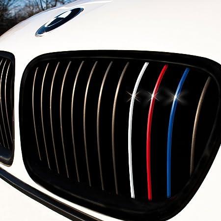 Motoking Nierenaufkleber Standard 24 Teiliges Autoaufkleberset 4 Farben Im Set Dunkelblau Rot Weiß Hellblau Auto