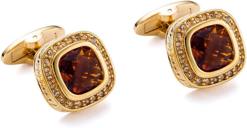 ZNBJJWCP Classic Cufflinks Gift Party Wedding Suit Shirt Men Jewelry Button Crystal Cuff Links