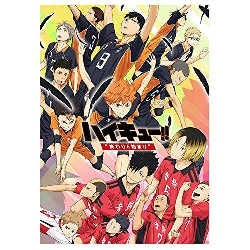 AMA-StarUK36 Anime Haikyuu!! Poster Wandaufkleber Papier Sammlung von Comicfiguren Neuauflage Home Office Decor 11.8x16.5 Zoll(H03)