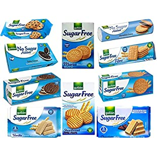 Gullon Sugar Free & No Added Sugar Biscuits Selection x 10 packs