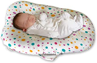 Baby Lounger Bed Bassinet for Baby Shower Gift Portable Infants Crib for 0-6 Months Cotton, Removable Cover, Flame Resistant Filling by YGJT