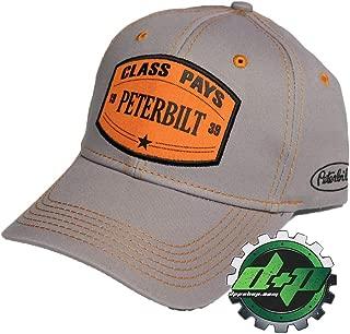 Diesel Power Plus Peterbilt Motors 3D Orange Patch Class Pays Gray Hat PB Trucks Cap New