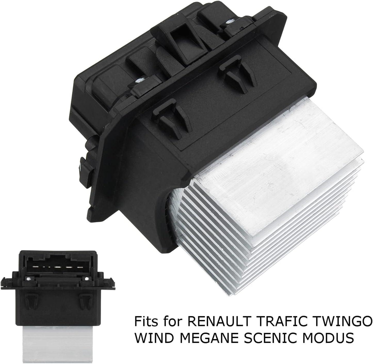 huhu Calentador Blower Motor Resistor Fit para Renault Wind Scenic Modus Twingo Megane Trafic 2002-2014 7701209850 6441.AF 6441.A