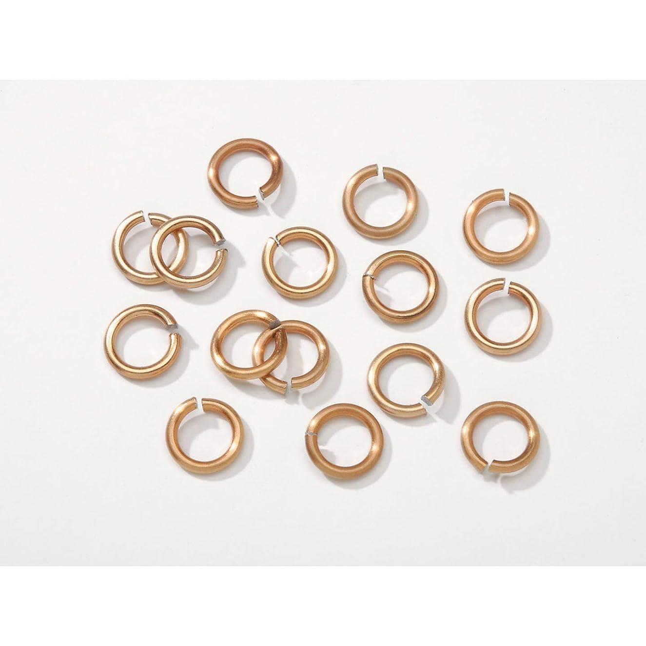 Bulk Buy: Darice DIY Crafts Chain Maille Aluminum Jump Rings Gold 10mm (4-Pack) BG1017