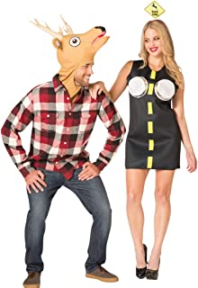 Couples Deer in Headlights Theme Party Outfit Halloween Costume, One Size
