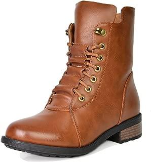 Women's Mid Calf Military Combat Boots