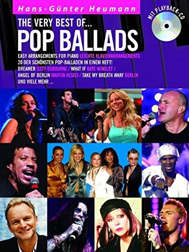 The Very Best Of ... Pop Ballads (Buch & CD): Songbook, CD für Klavier