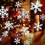 108 Fensterdeko Schneeflocken Schneeflocken Fensterbilder Abnehmbare Fensterdeko Statisch Haftende PVC Aufkleber für Weihnachts-Fenster Dekoration, Türen ,Schaufenster, Vitrinen, Glasfronten - 2
