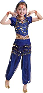 Girls Short Sleeve Top Harem Pants Belly Dance Outfit Halloween Costume DW64
