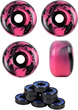 Skateboard Wheels with ABEC 7 Bearings and Spacers