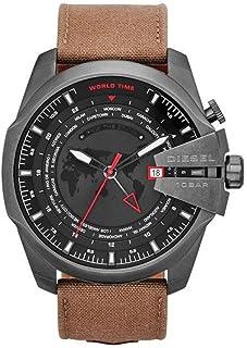 Mega Chief GMT Canvas - Khaki Men's Watch #DZ4306