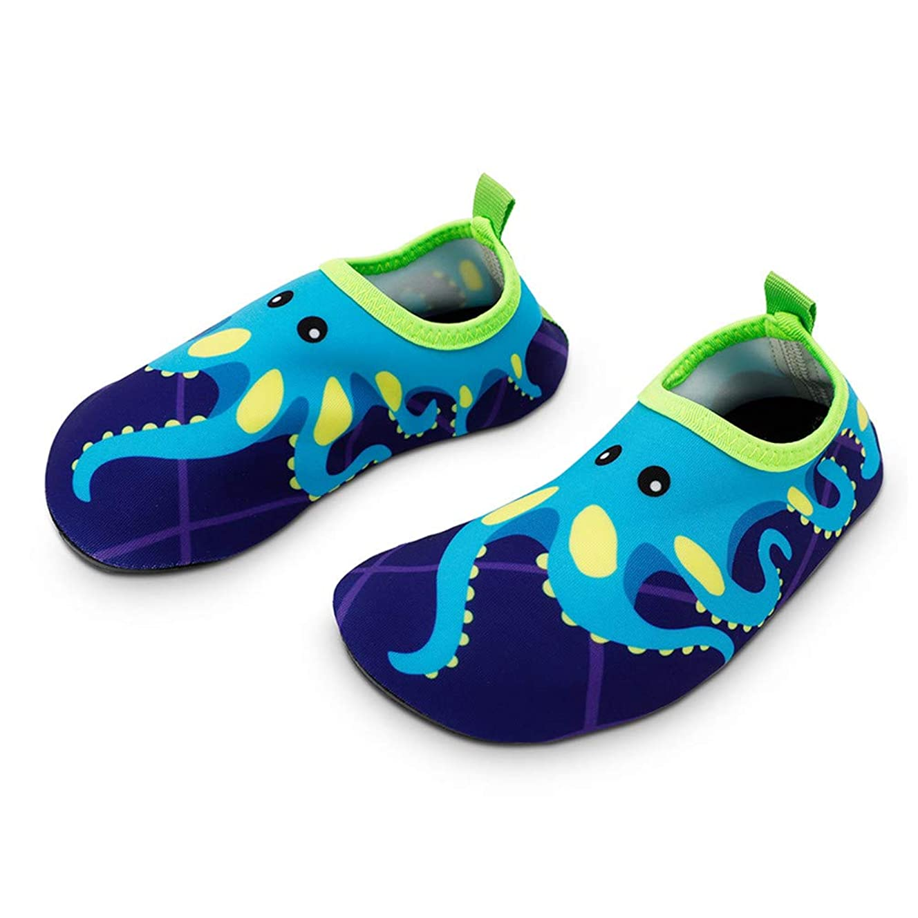 Bigib Toddler Kids Swim Water Shoes Quick Dry Non-Slip Water Skin Barefoot Sports Shoes Aqua?Socks for Boys?Girls?Toddler