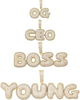 iced out name pendant