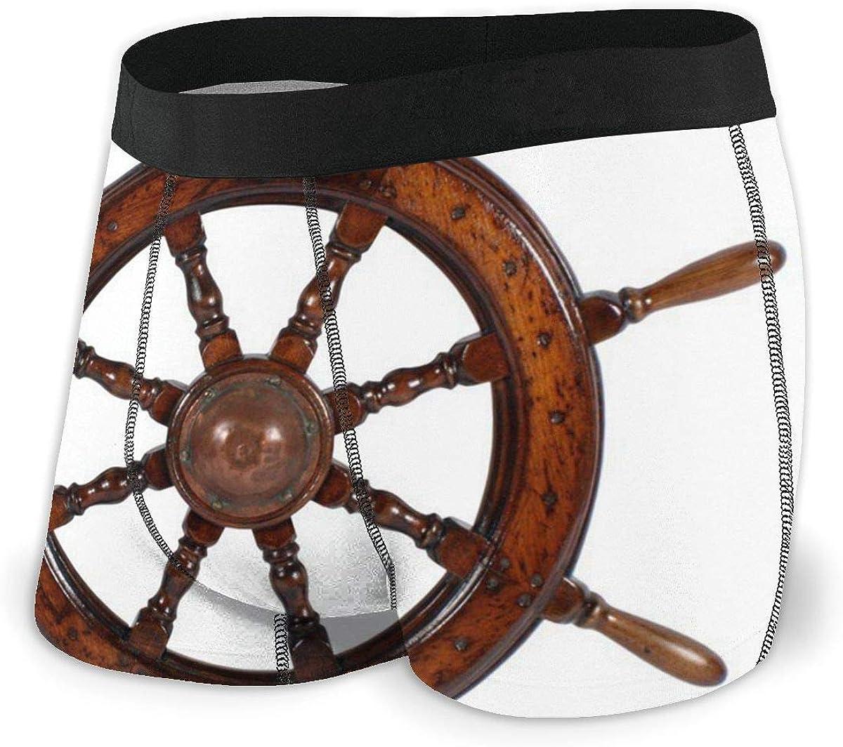Randolph Wordsworth Mens Boxer Briefs Ship's Wheel Breathable Underwear